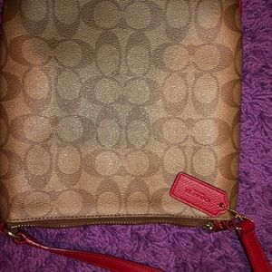Coach Bags - Authentic Coach Crossbody Purse - Brown, Tan, Red